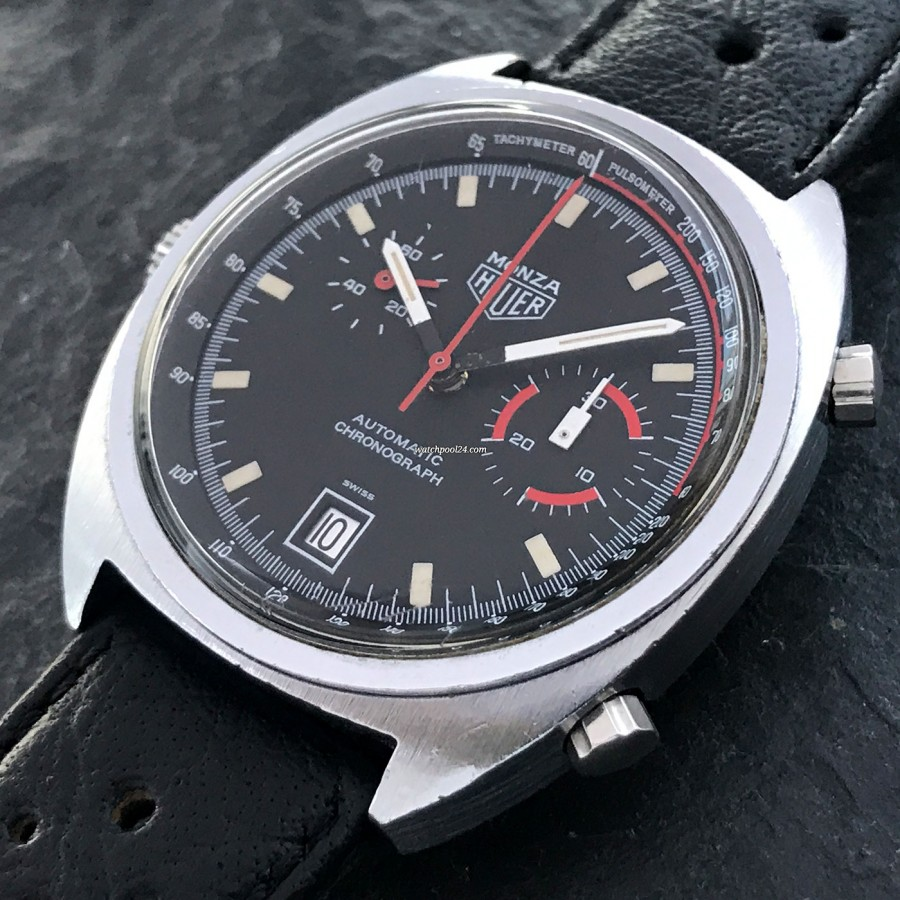 Heuer Monza 150.511 Chrome-Plated - racing chronograph from the 1970s