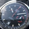 Heuer Monza 150.511 Chrome-Plated - black dial with intact lume and red accents