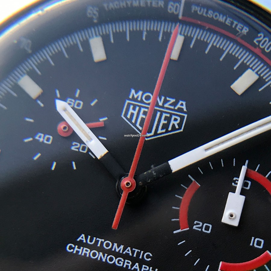 Heuer Monza 150.511 Chrome-Plated - small second at 10 o'clock, white hand set