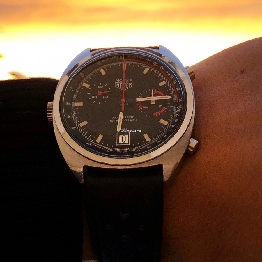 Heuer Monza 150.511 Chrome-Plated - beatiful view in the sunset