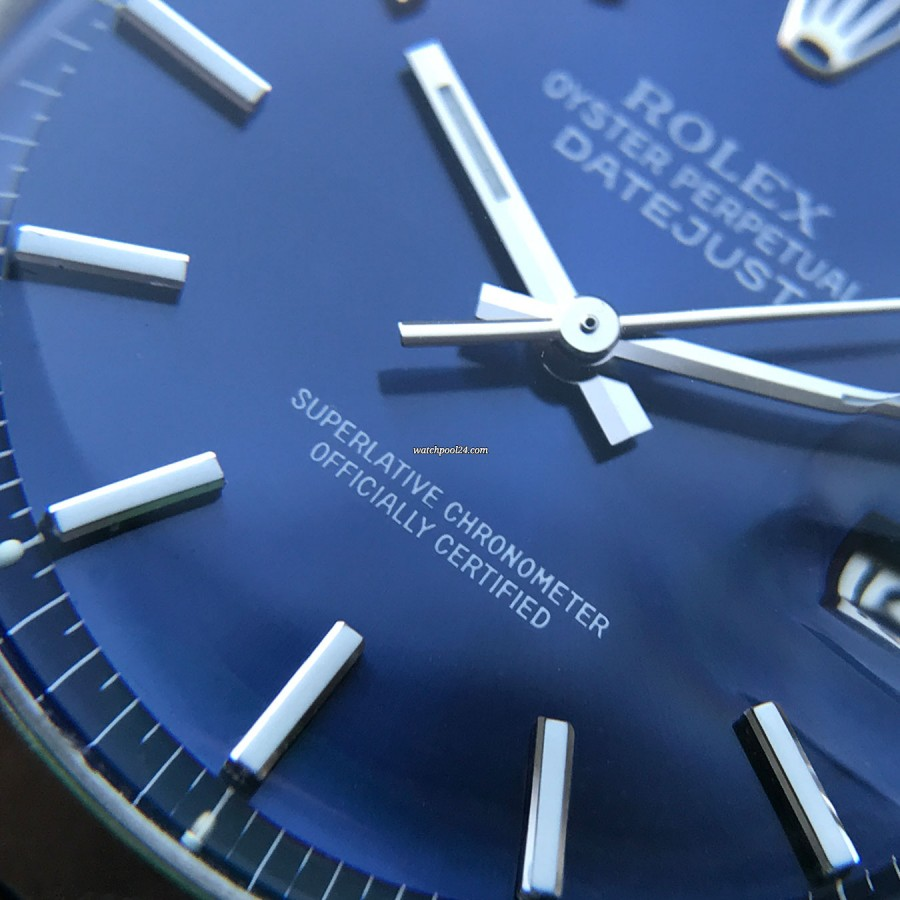 Rolex Datejust 1600 Blue Dial - Superlative Chronometer Officially Certified