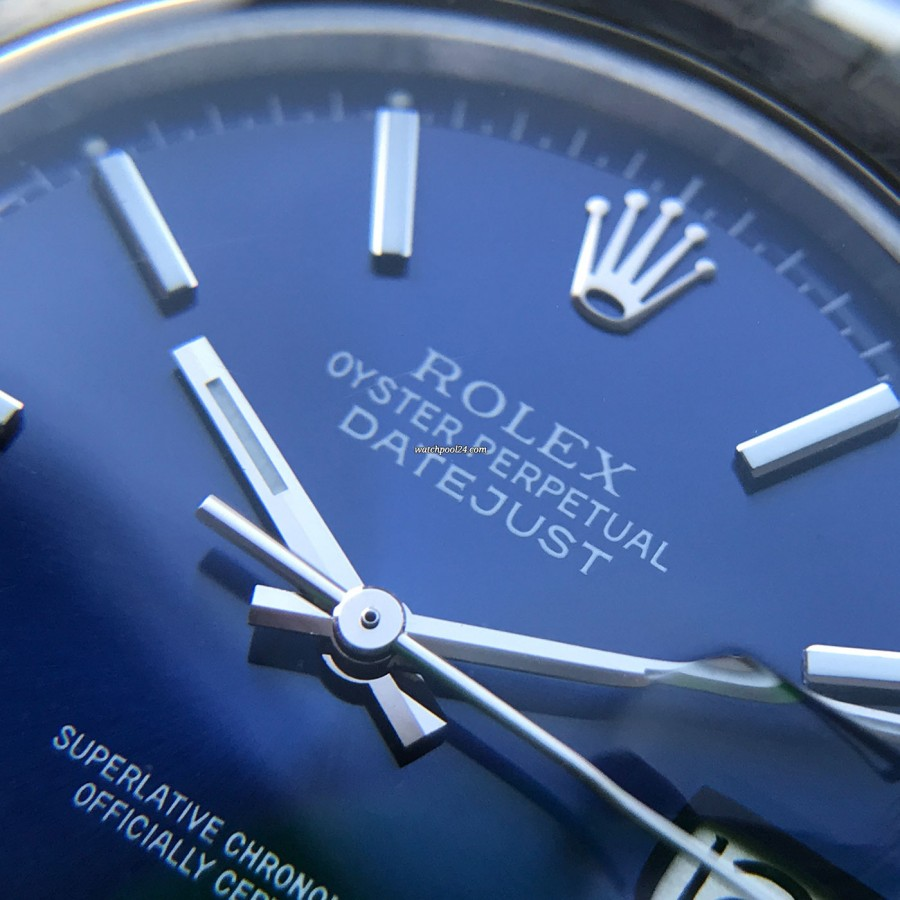 Rolex Datejust 1600 Blue Dial - beautiful blue color of the dial