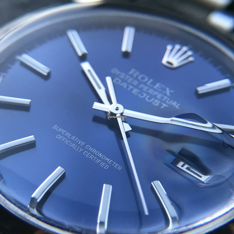 Rolex Datejust 1600 Blue Dial - perfect dial condition