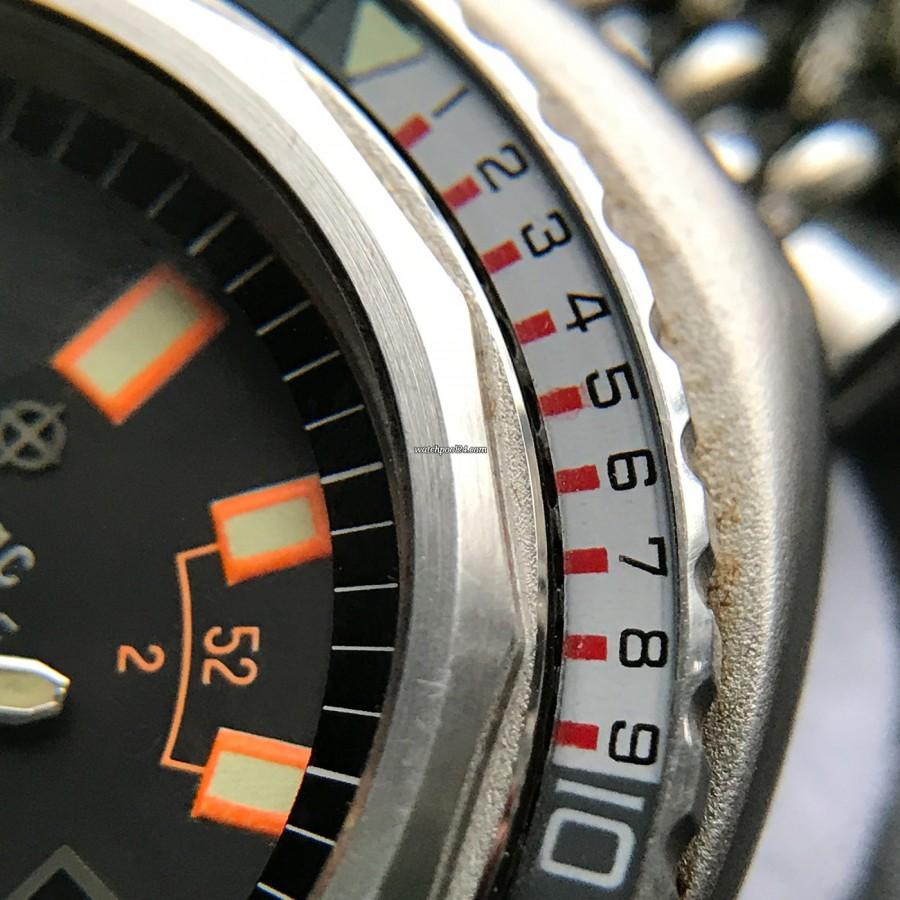 Zodiac Super Sea Wolf - Diver's Watch - die ersten 10 Minuten sind in einzelne Minuten unterteilt.