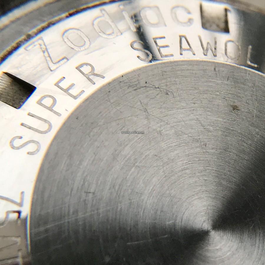 Zodiac Super Sea Wolf - Diver's Watch - Gravierung auf dem Gehäuseboden 'Zodiac Super Sea Wolf'
