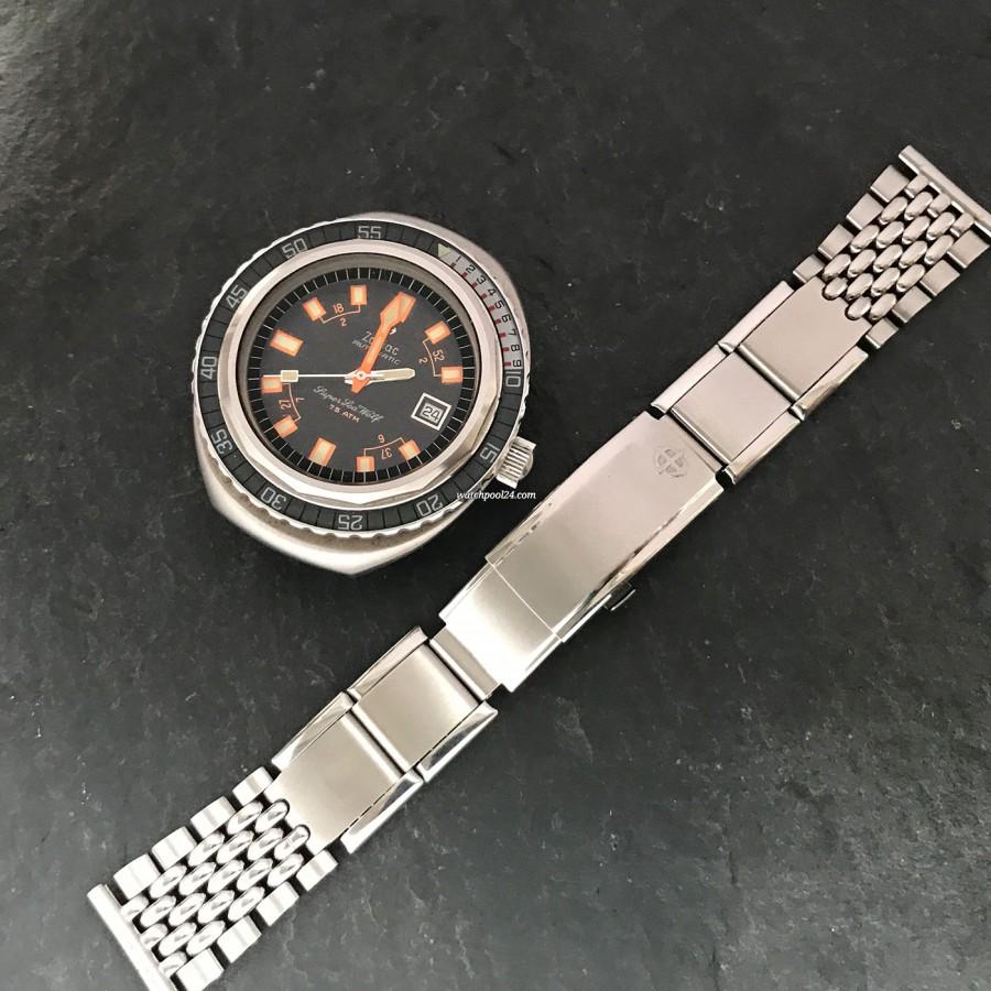Zodiac Super Sea Wolf - Diver's Watch - Beads of Rice Flex-Armband