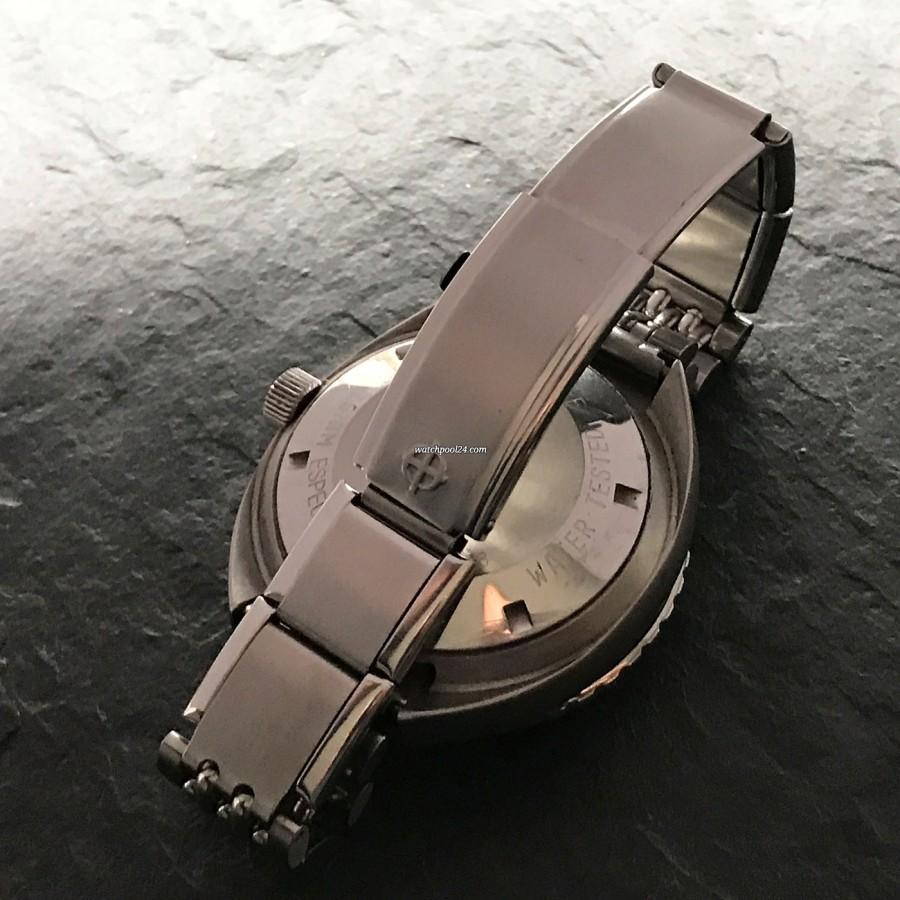 Zodiac Super Sea Wolf - Diver's Watch - die Taucher-Extension der Schließe in ausgefahrenem Zustand