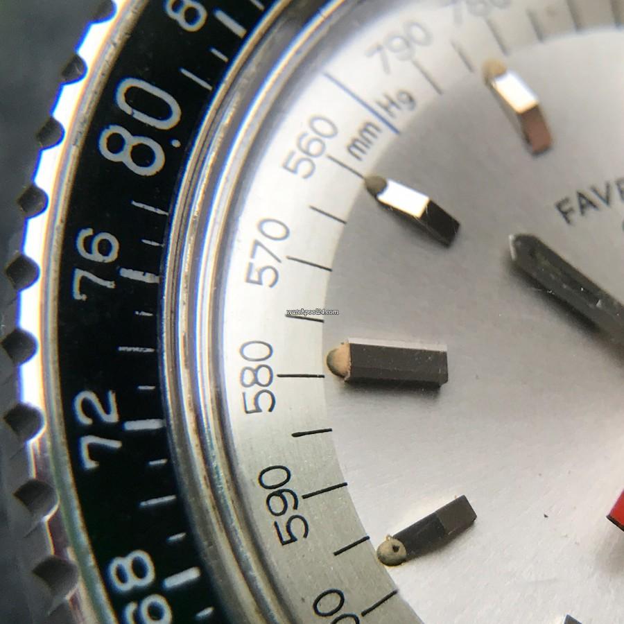 Favre Leuba Bivouac 53203 - originale Leuchtmasse in den Stundenmarkern