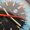Favre Leuba Bivouac 53223 Blue - orangener Zeiger zeigt den aktuellen Luftdruck an