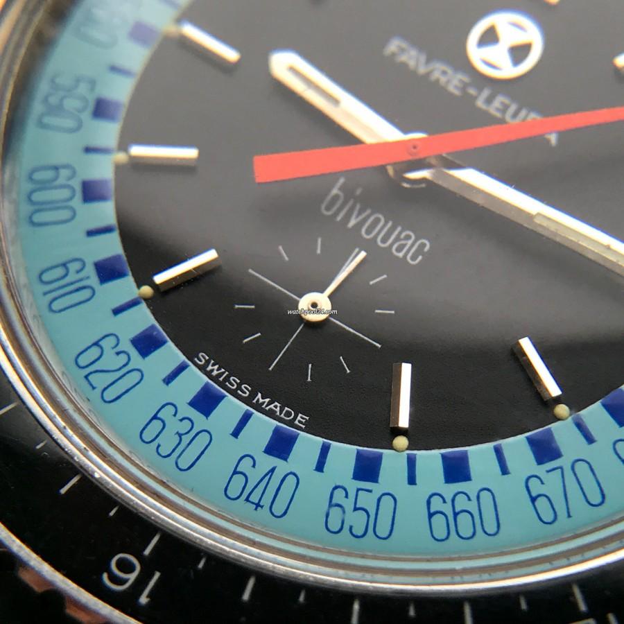 Favre Leuba Bivouac 53223 Blue - kleine Sekunde bei 6 Uhr