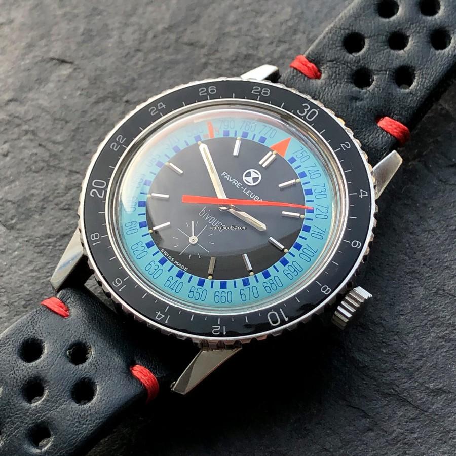 Favre Leuba Bivouac 53223 Blue - blau-schwarzes Zifferblatt