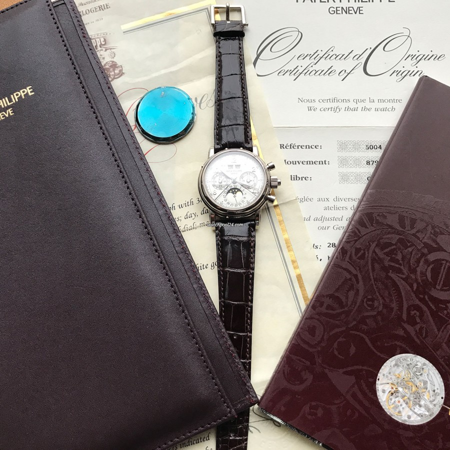 Patek Philippe Grand Complications 5004G - papers and accessories