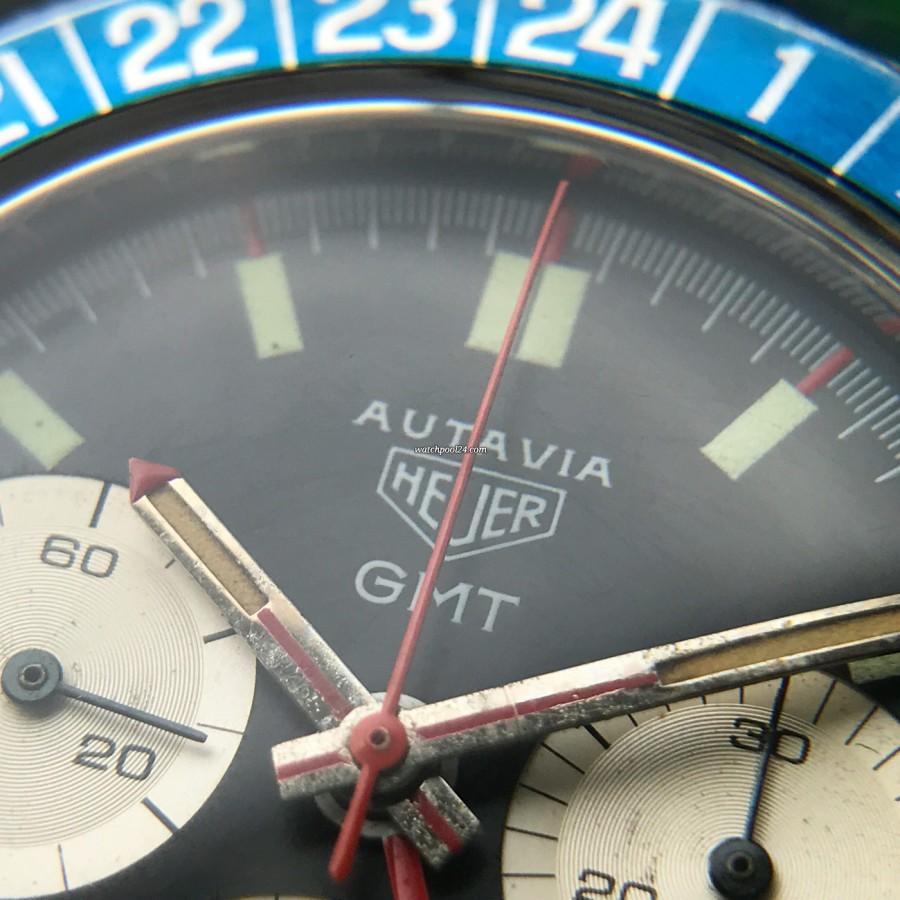 Heuer Autavia 2446C GMT MK4 - red chrono hand
