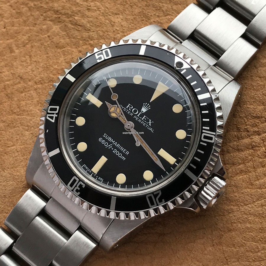 Rolex Submariner 5513 Punched Papers - black rotating bezel