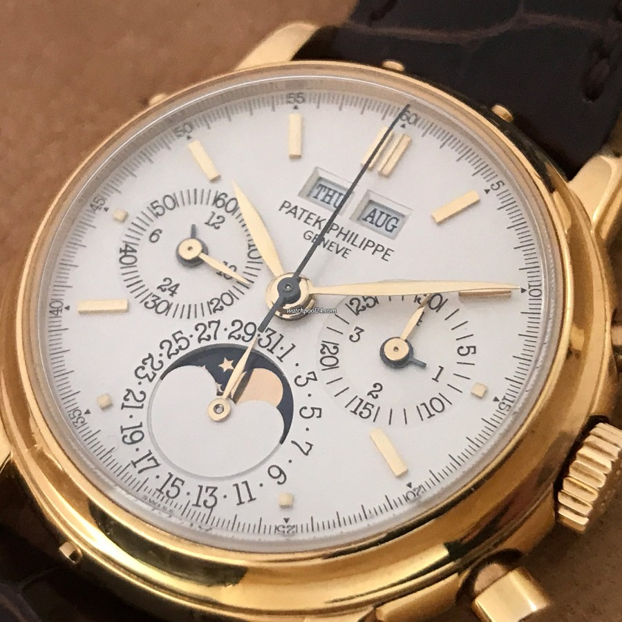 Patek Philippe Grand Complications 3970 Second Series - Full Set - perfectly balanced silver dial