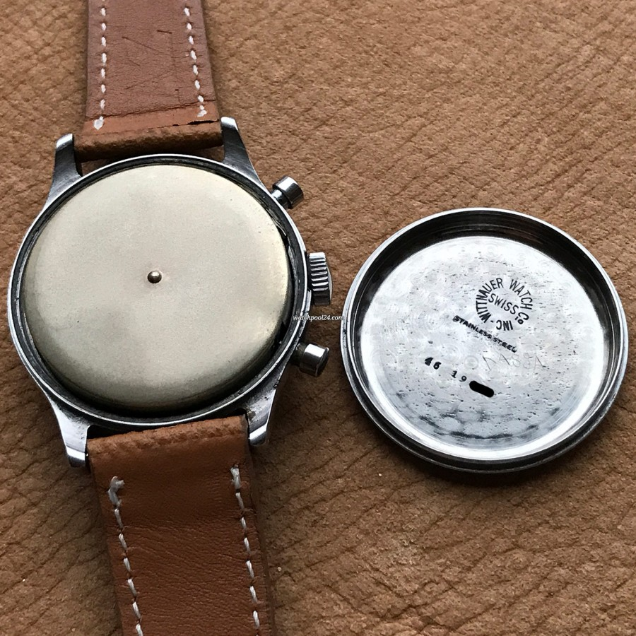 Wittnauer Chronograph Valjoux 71 Radium Lume - case cover and dust cover