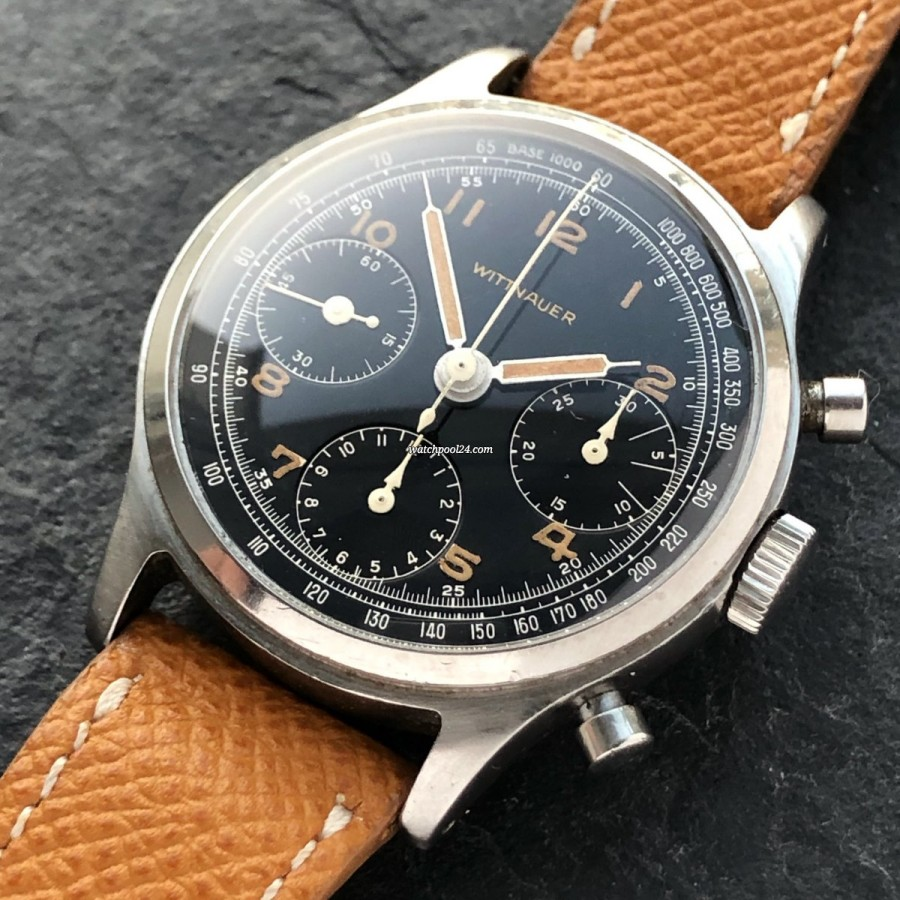 Wittnauer Chronograph Valjoux 71 Radium Lume - beautiful chronograph from the 1950s