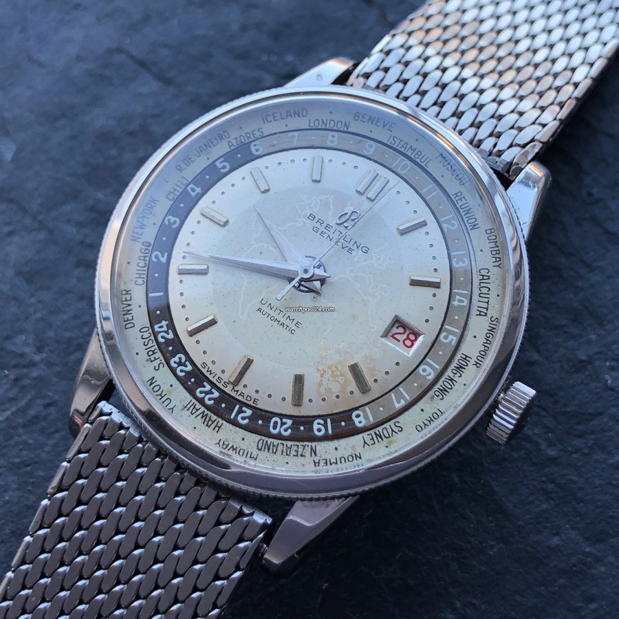 Breitling Unitime World Timer 1-260 - the coolest vintage Breitling ever