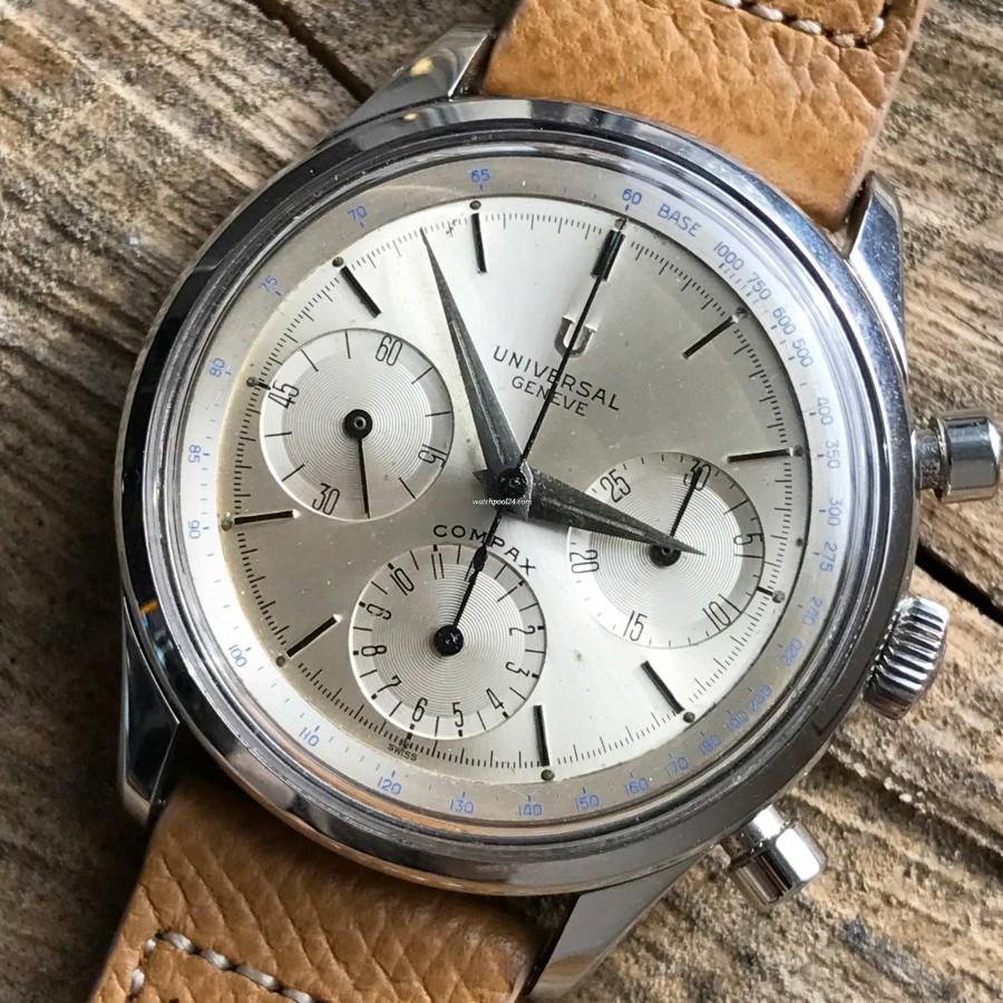 Universal Genève Compax 22704-1 Big Size - seltene und sportlich-elegante Uhr