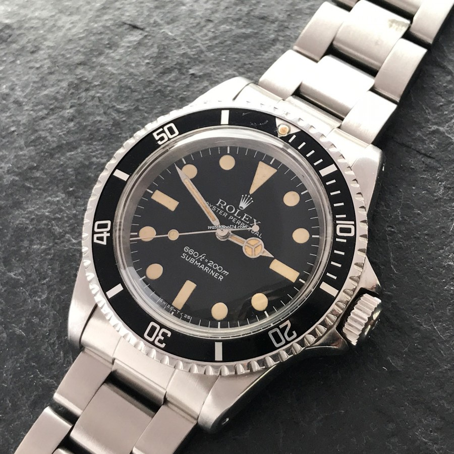 Rolex Submariner 5513 Maxi Dial I - a beautiful example of a 'no date' Submariner from 1977
