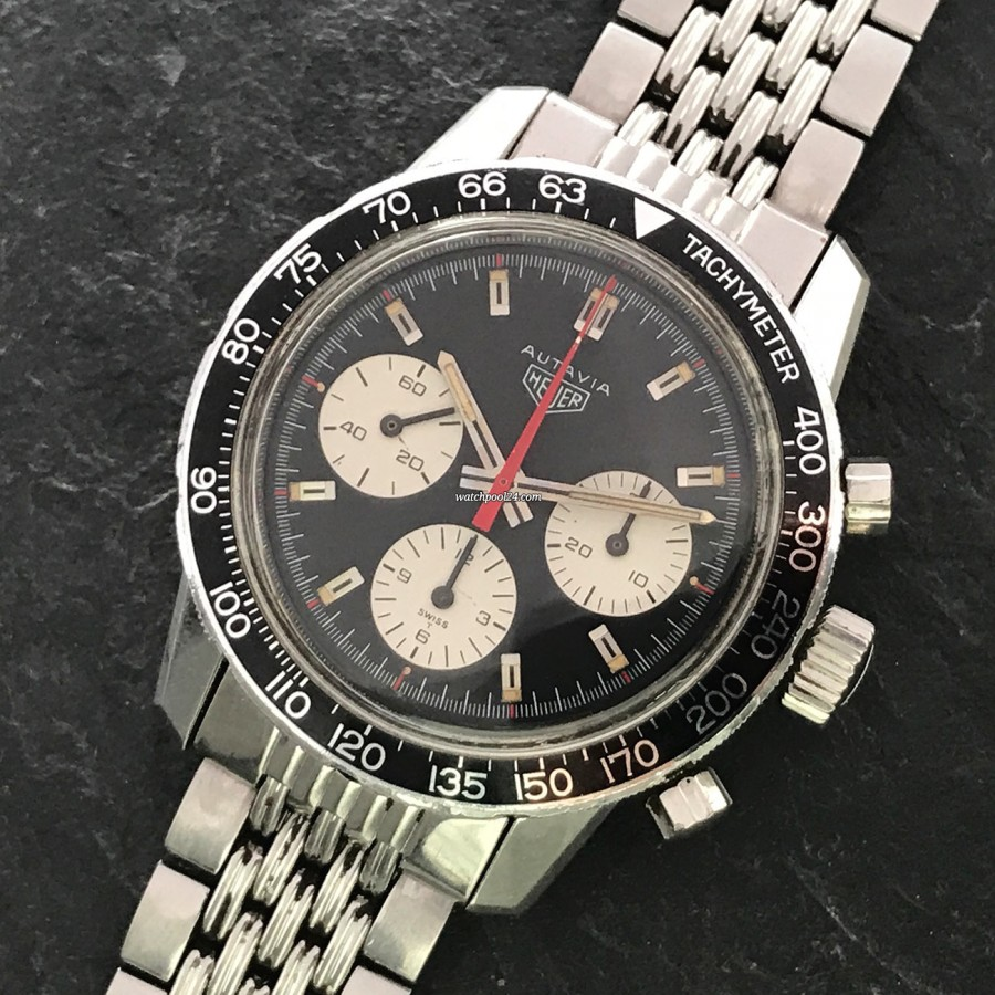 Heuer Autavia 2446C Gay Frères Bracelet - rare racing chrono with a striking look