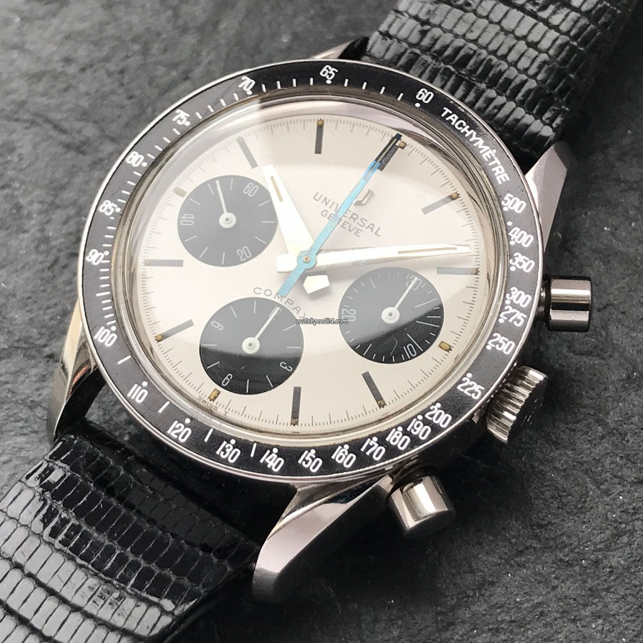 Universal Genève Compax 885103/02 Nina Rindt - the iconic chronograph from 1965 in nearly unworn condition