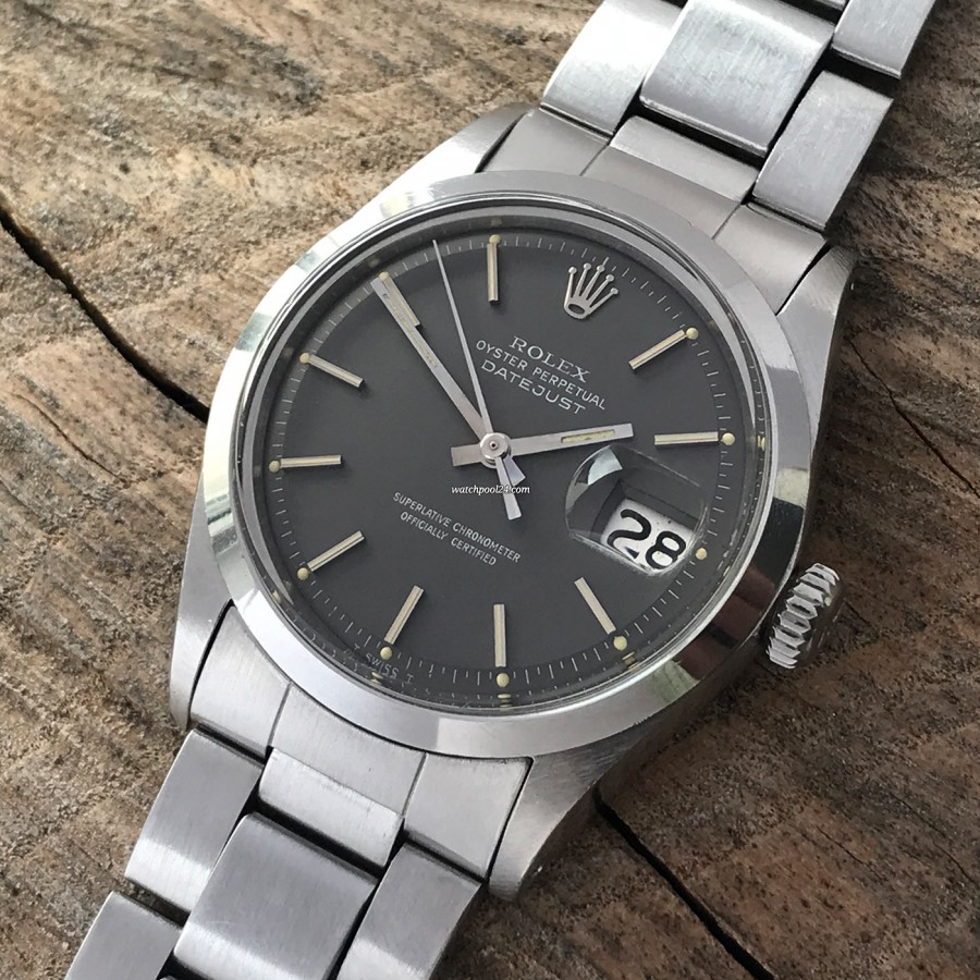 Rolex Datejust 1600 Gray Dial Papers - the timeless watch from the year 1971