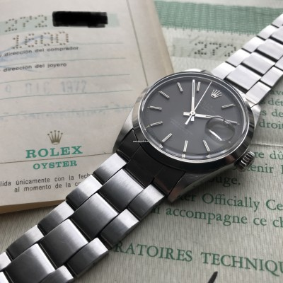 Rolex Datejust 1600 Gray Dial Papers