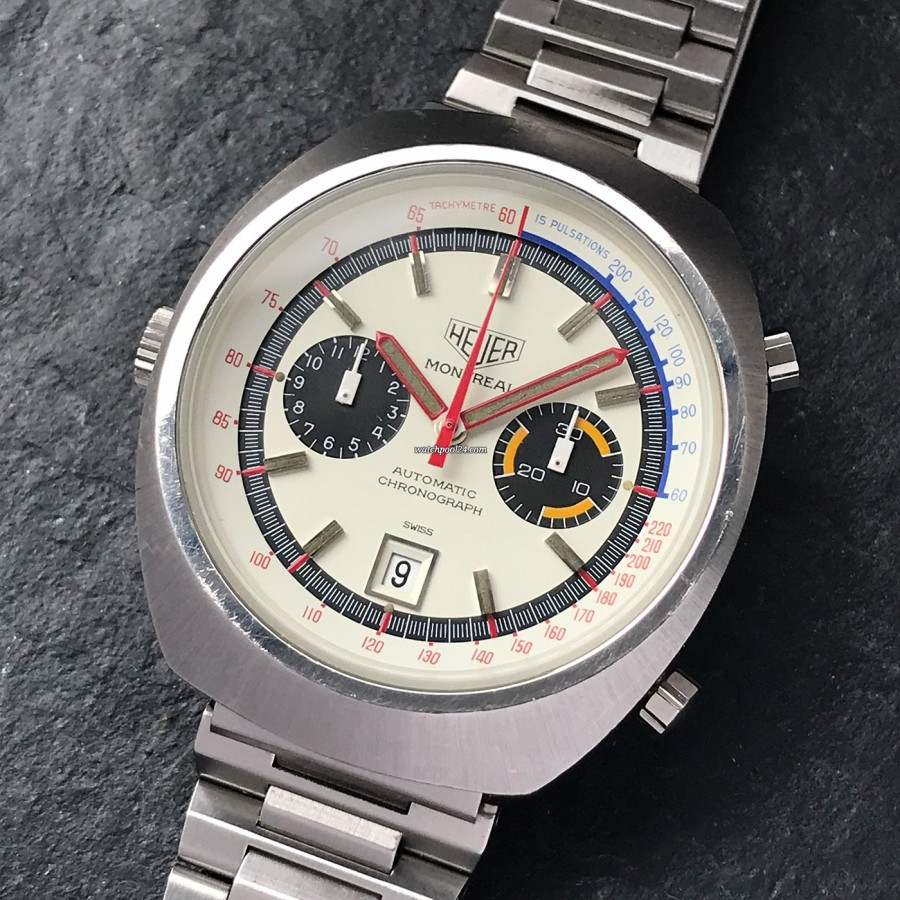 Heuer Montreal 110.503 White - a racing chrono from the 1970s