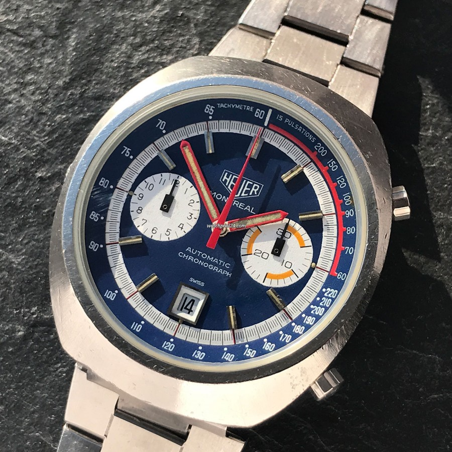 Heuer Montreal 110.503 Blue Dial - racing chrono from the 1970s