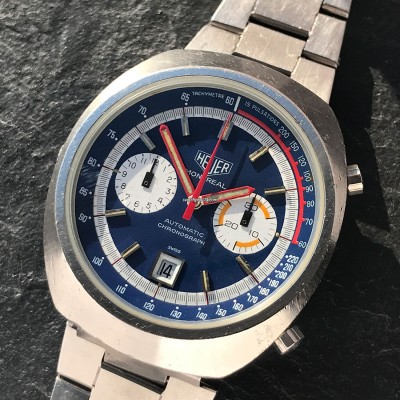 Heuer Montreal 110.503 Blue Dial