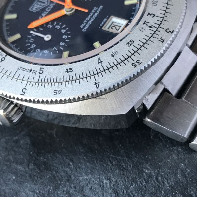 Heuer Calculator 110.633 Blue Dial