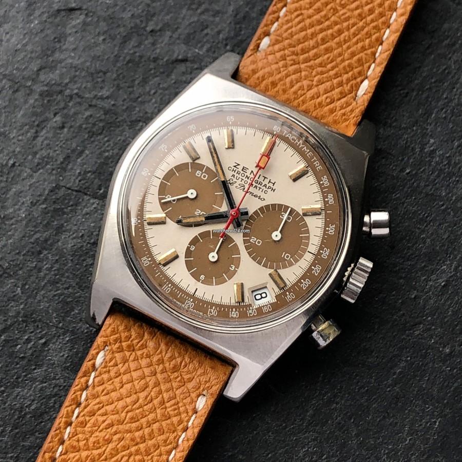 Zenith El Primero A384 Tropical - eine beeindruckende und historisch wichtige Vintage-Armbanduhr aus den 1970-er Jahren