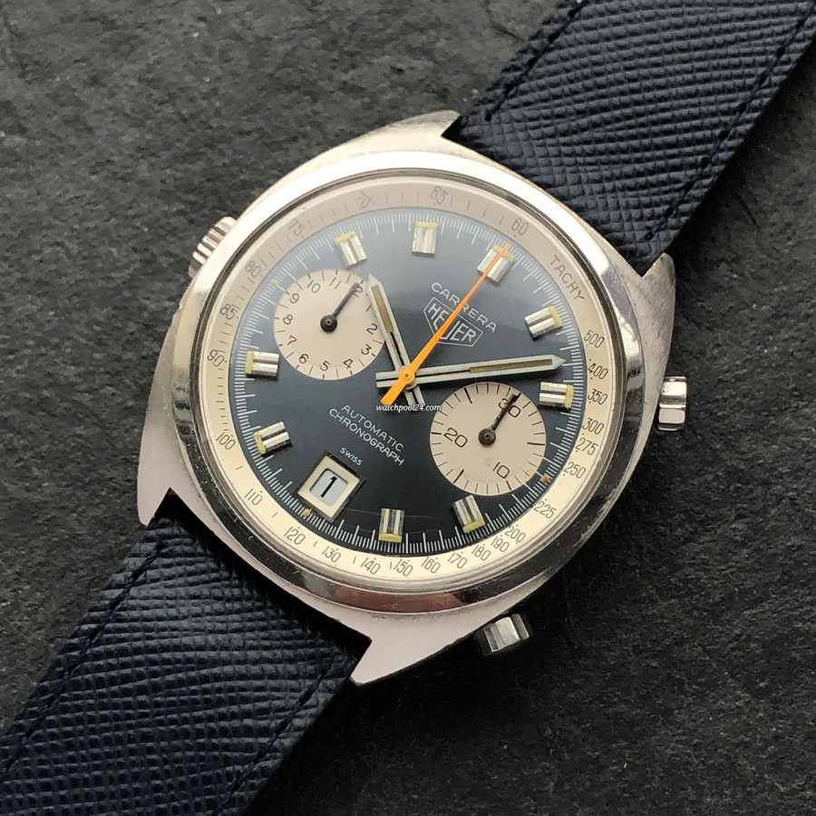Heuer Carrera 1153 Blue Dial - a vintage beauty from 1974