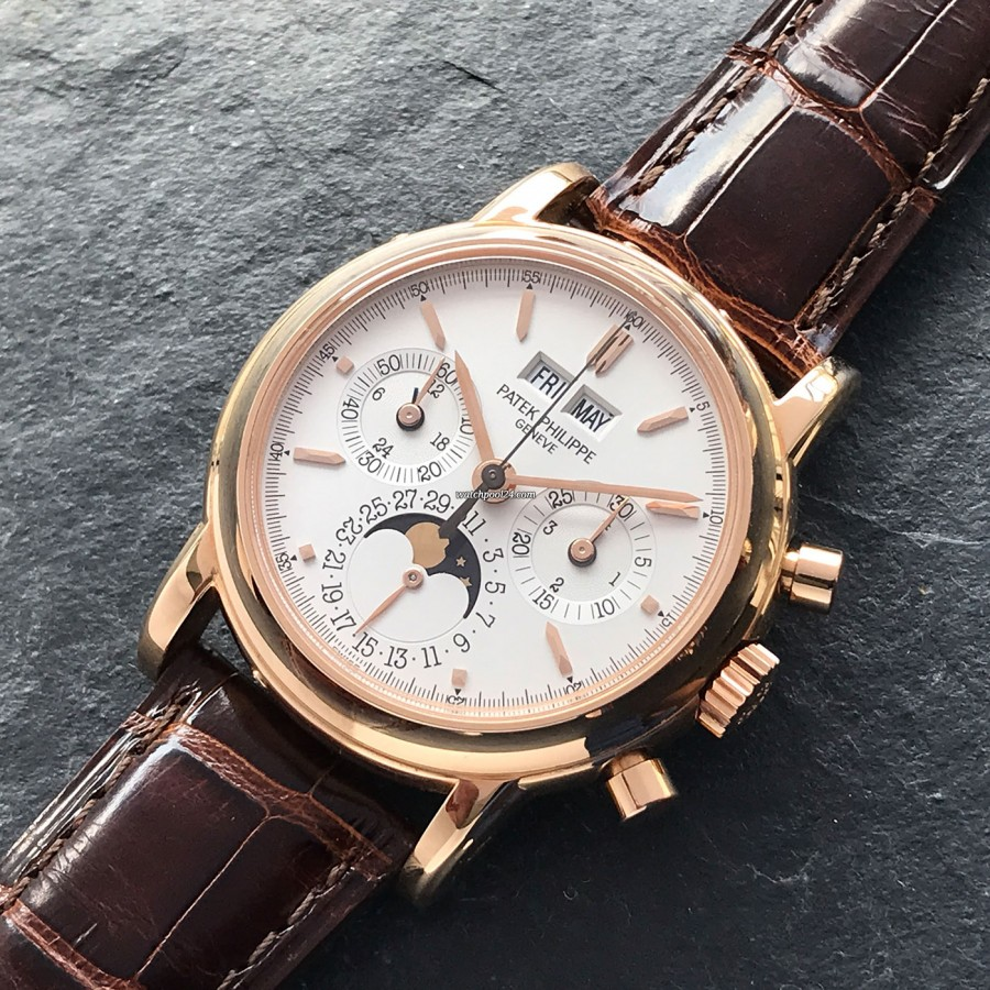 Patek Philippe Grand Complications 3970 Rose Gold - Full Set - perpetual calendar and chronograph in one wristwatch