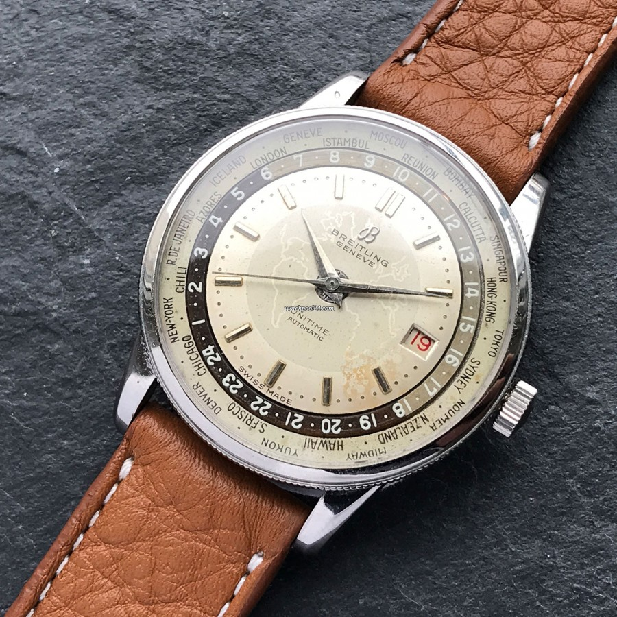 Breitling Unitime World Timer 1-260 - an extremely rare vintage watch from 1955