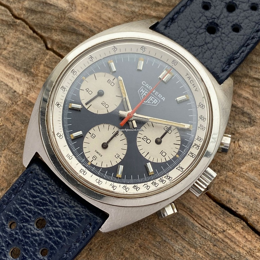 Heuer Carrera 73653 First Execution - a beautiful three-register chronograph from 1971