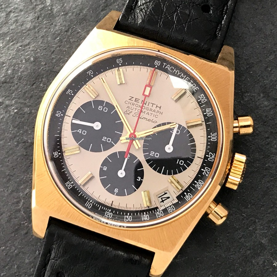 Zenith El Primero G384 - an extremely rare chronograph in mint condition