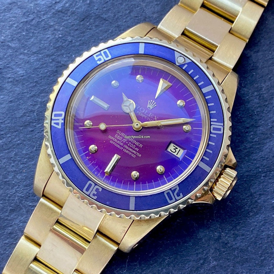 Rolex Submariner 1680/8 Purple - extremely attractive and unusual Submariner from 1971