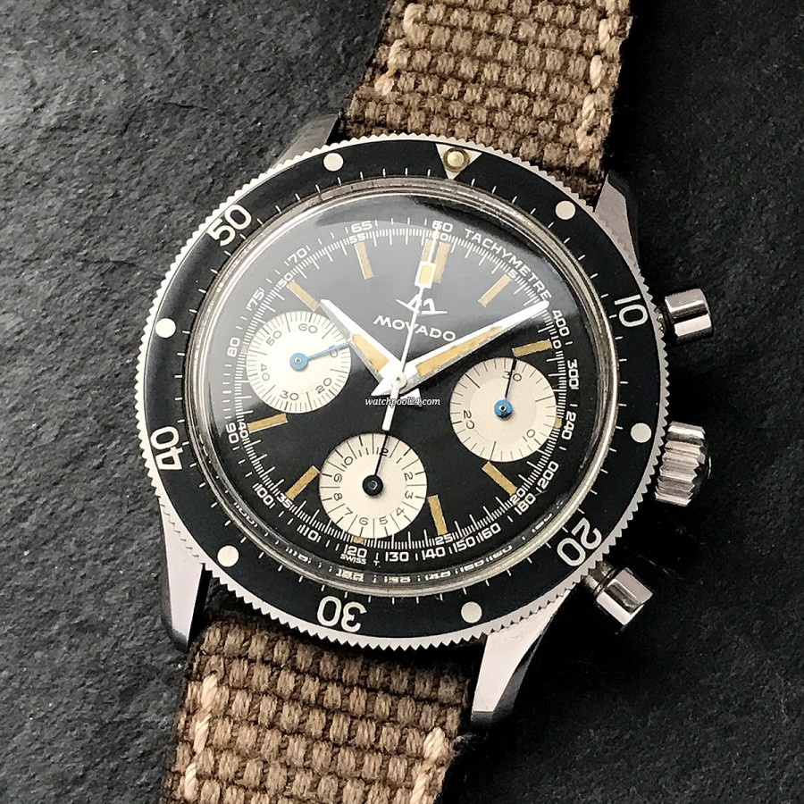 Movado Super Sub Sea 206-704-501 Unpolished - a very popular and classic vintage chronograph from 1968