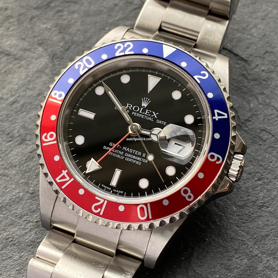 Rolex GMT Master II 16710 Rectangular Dial - rare dial, full set and a perfectly preserved condition