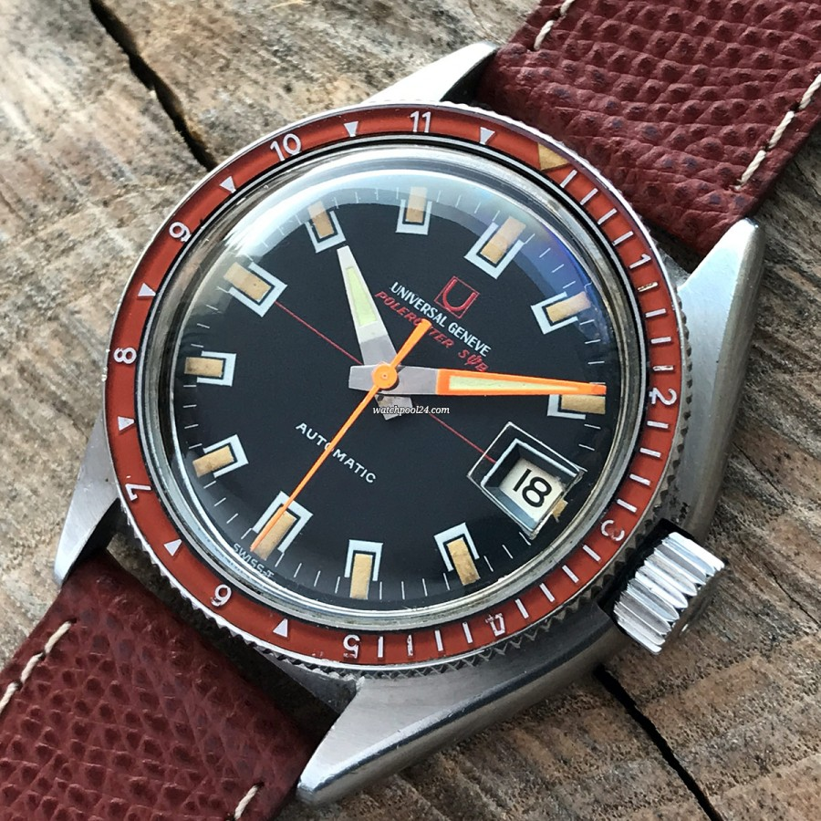 Universal Genève Polerouter Sub 869120/02 Red Bezel - a diver's watch from 1968