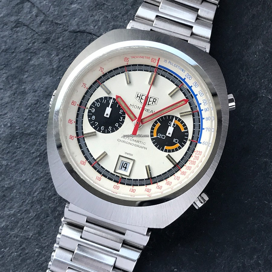 Heuer Montreal 110.503 White Dial - a striking chronograph from the 1970s