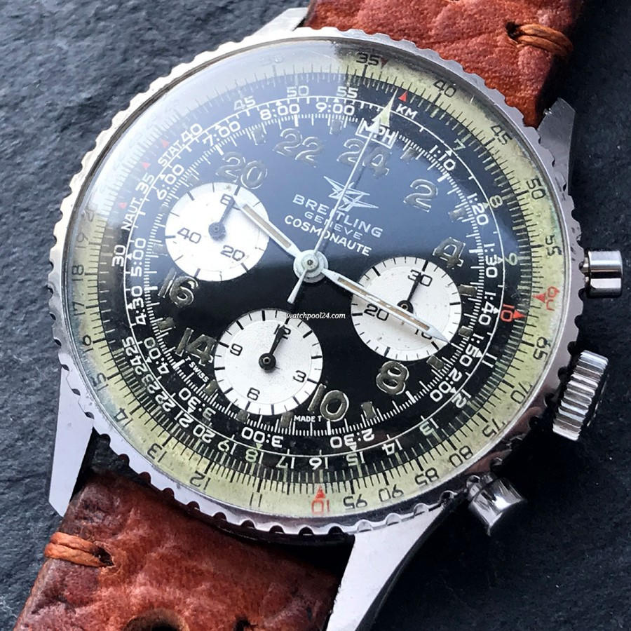Breitling Cosmonaute 809 Unpolished - legendary aviator chronograph from 1971