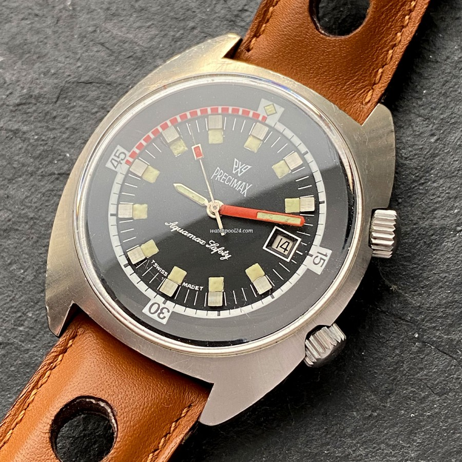 Precimax Aquamax Safety - a diver's watch from the 1970s
