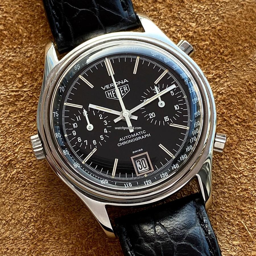 Heuer Verona 110.213 - klassischer Chronograph der späten 1970er Jahre