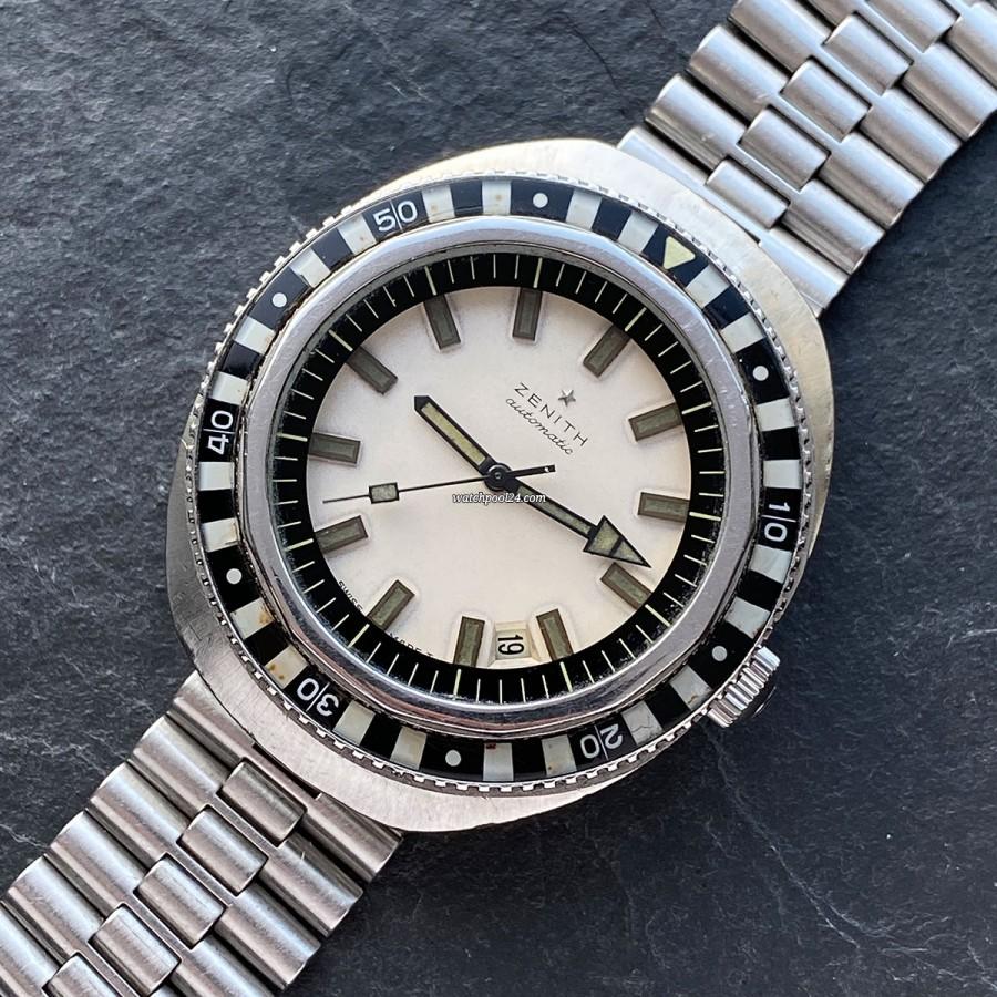 Zenith Diver A3637 Zebra - 1960s vintage design diver's watch