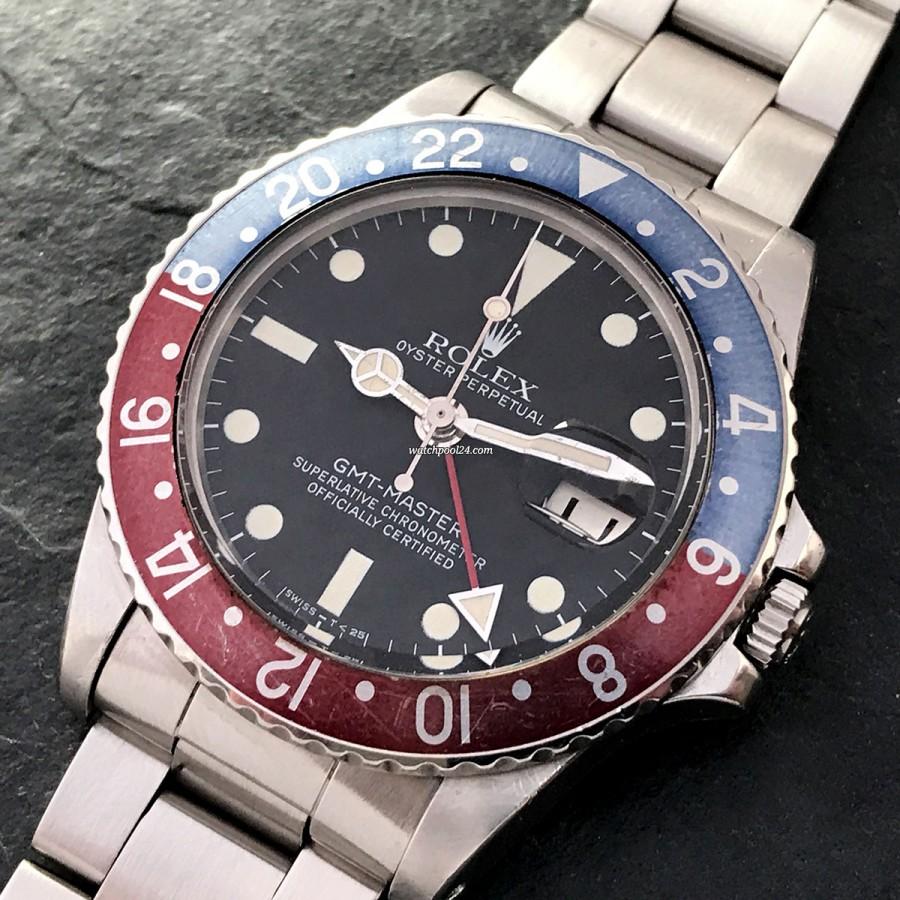 Rolex GMT Master 1675 White Lume - authentische Vintage-Piloten-Uhr von 1978