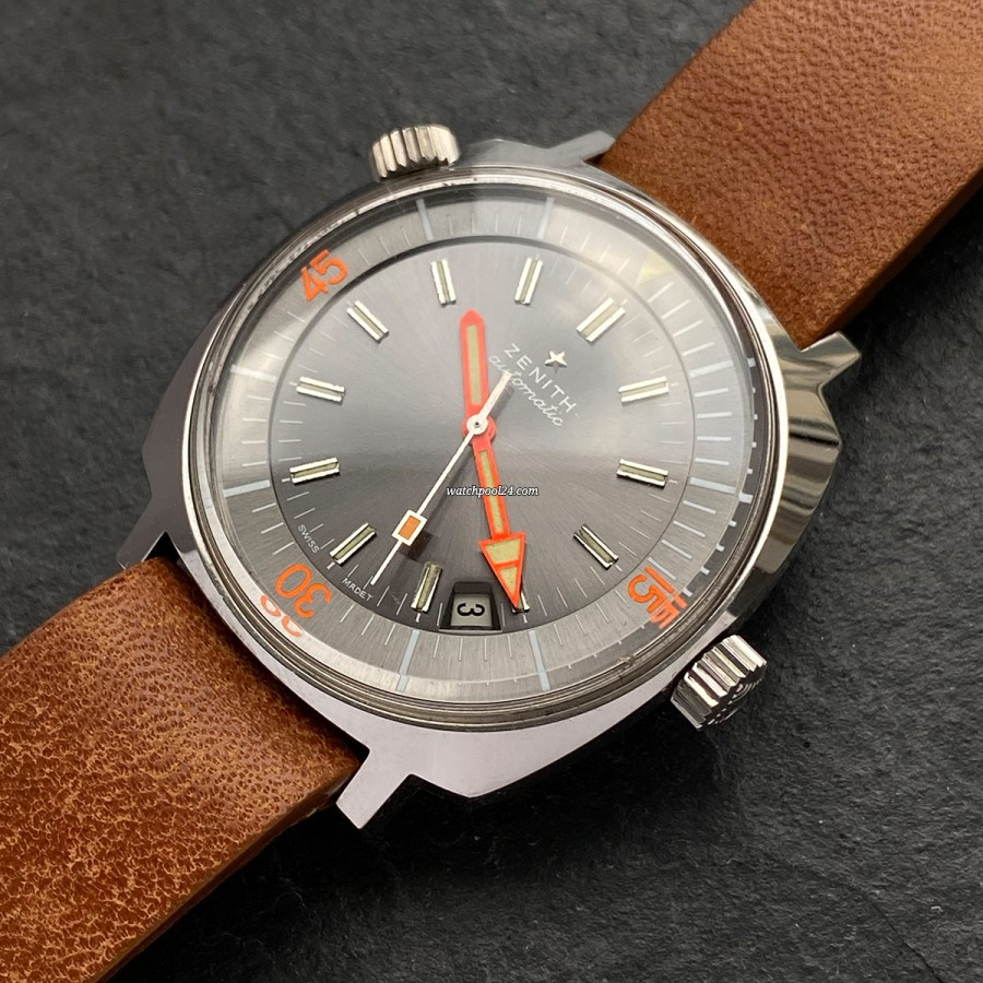 Zenith Super Sub Sea A3635 - a rare vintage diver's watch from 1970s