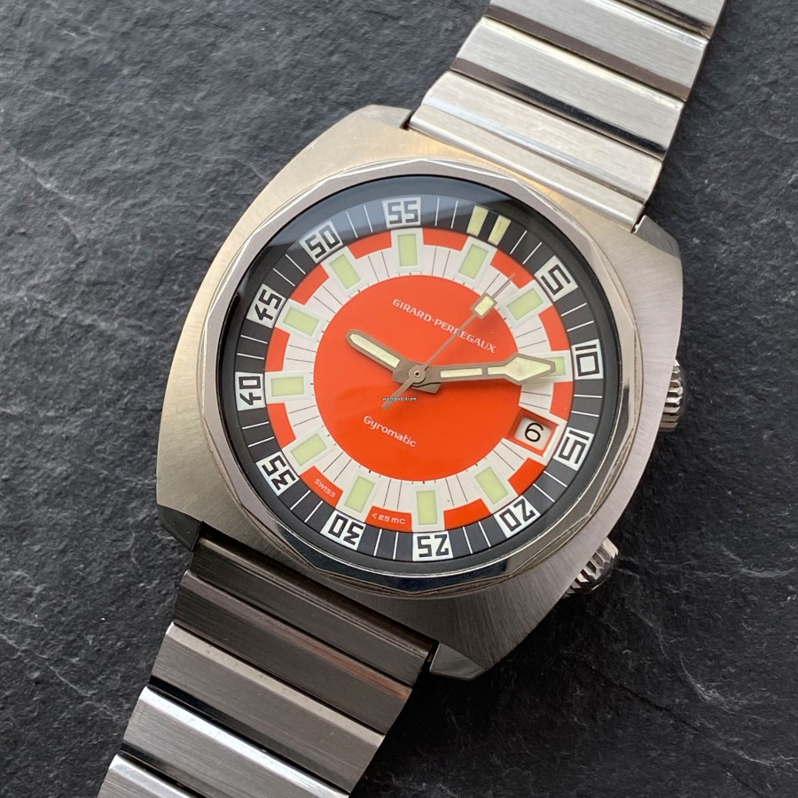 Girard Perregaux Deep Diver 9108 FA - rare vintage diving watch from the 1970s